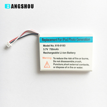 For Apple iPod Photo Replacement Battery 750mAh 3.7V Li-polymer Battery(China)