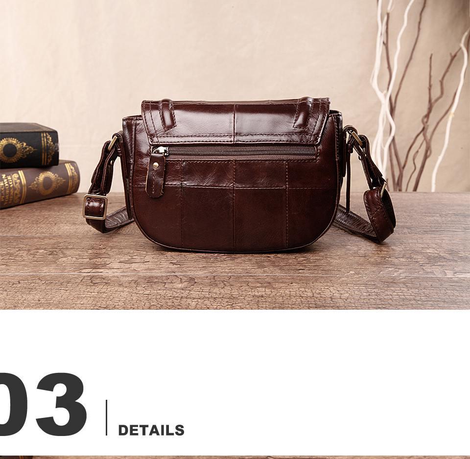حقيبة جلد طبيعي للنساء 7