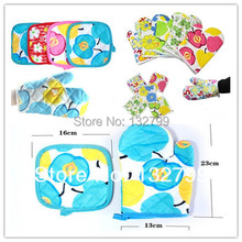 Kitchen Cooking Oven Glove Mittens Heat Resistant Pot Pads Holder Burn Proof 2in1