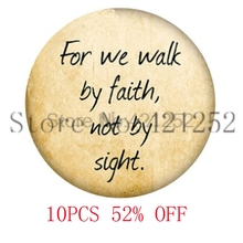Bible for we walk by faith not by sight necklace keyring bookmark cufflink earring