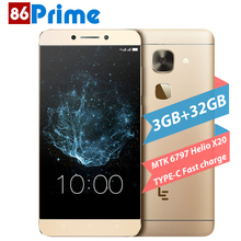 Original Letv X622 LeEco Le S3 Mobile Phone 4G LTE Android 6.0 phone Deca Core Smartphone 3GB 32GB 5.5 Inch FHD 16MP Cellphone
