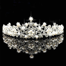 2016 New Exquisite Art Deco Wedding Tiara Rhinestones Headband Crystal Bridal Crown Headpiece Pearls Wedding Hair accessories