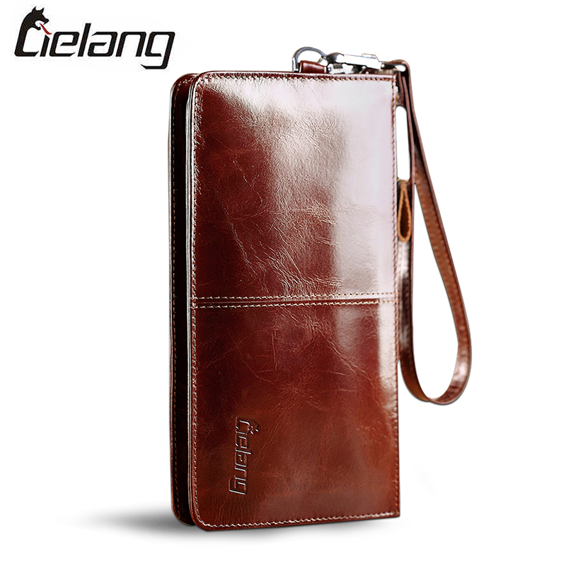 LIELANG New Mens Wallets Fashion Genuine Leather Wallet Casual Long Purse Card Holder Cowhide Leather Wallet Mens Wallets<br><br>Aliexpress