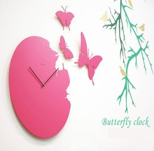 Butterfly Wall Clock Home Decor Clock Arts Wall Clock