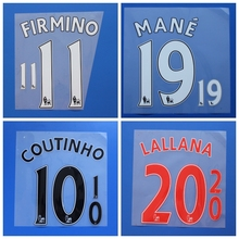 2016 2017 Premier League MILNER LALLANA COUTINHO FIRMINO MANE HENDERSON custom football number font print ,Soccer patch badge