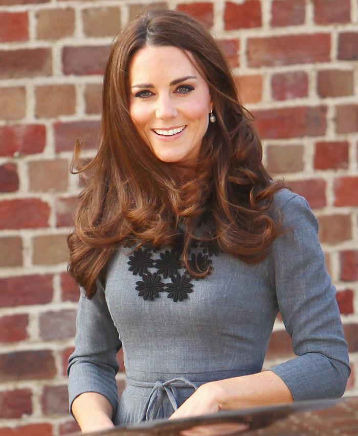 Princess Kate Middleton Style brand handwork Stick flower long sleeve dress spring fashion women kate floral dresses