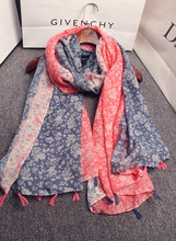 Designer scarf 2016 mori girls autumn winter Japanese style long floral print patchwork scarf muffler cape shawl birthday gifts