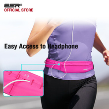 Running Belt Waist Pack, ESR Universal Lightweight Sports Band Pouch with Key Card Slot Headphone Port for iPhone X/8 Plus/7/6s(China)