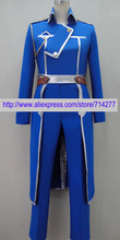 Free shipping Custom cheap FullMetal Alchemist Roy Mustang Military Cosplay Costume Anime clothing