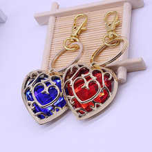New Fashion Women Heart Rhinestone Keychain Pendant Car Key Chain Ring Holder Jewelry Exquisite Gifts @M23
