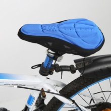 Comfortabel Mountain Bicycle Cycling Bike 3D Gel Silicone Seat Pad Saddle Soft Cushion Cover Outdoor 3 Colors