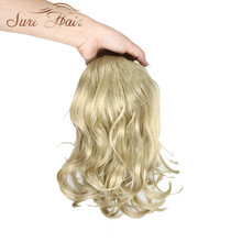 Suri Hair 12 Inchs Wavy Hair 9 Colors Available Synthetic Hairpiece Ponytail Extensions Wig Clip In Hair High Temperature Fiber(China)