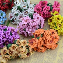 10PCS/lot Real Touch Rose Foam Mini Flower Bouquet  Mini Artificial leaves stamens Flower For Home And Wedding Party Decoration