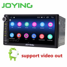 JOYING new developed 7'' double 2 din Android 6.0 auto car stereo navigation system built-in digital amplifier support video out