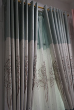 Modern For printing living room curtains draps style jacquard curtain fabric drapes insulated blackout curtainsvoile curtain
