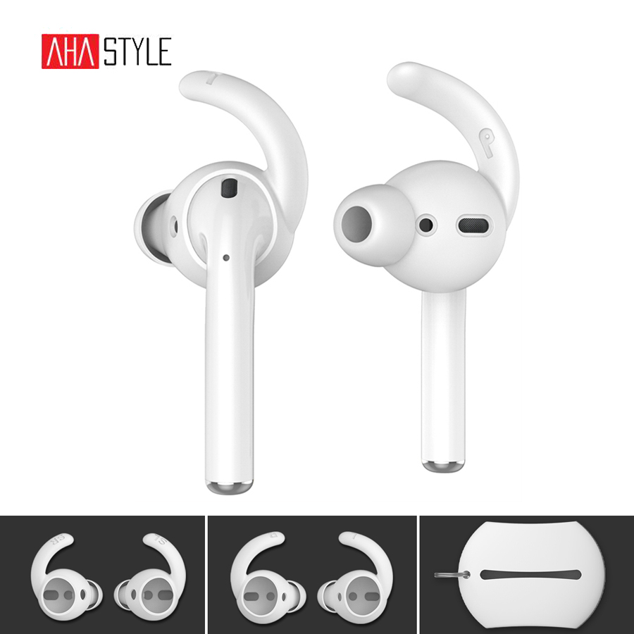 Soft Silicone Cover Case W// Hook For Apple Airpods Earphone Waterproof lot