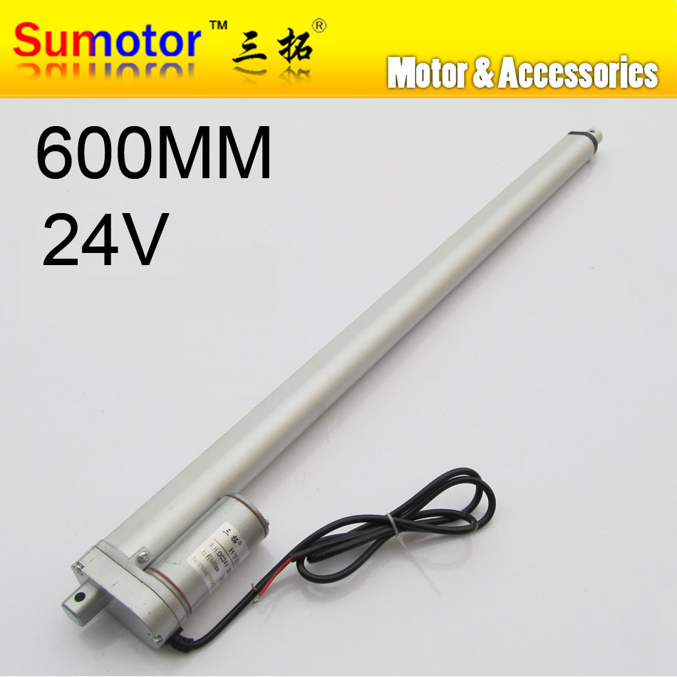 H600 24 stroke 600mm travel Electric linear actuator DC motor DC 24V 10mm/s Heavy Duty Pusher 90Kg for care bed windows opening<br><br>Aliexpress