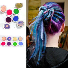 1pc Professional 4-colors Temporary Hair Dye Powder cake Styling Hair Chalk Soft Pastels Salon Tools Kit Non-toxic top quality