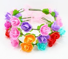Fashion Flower headbands orchid for mermaid tail decoration(China)