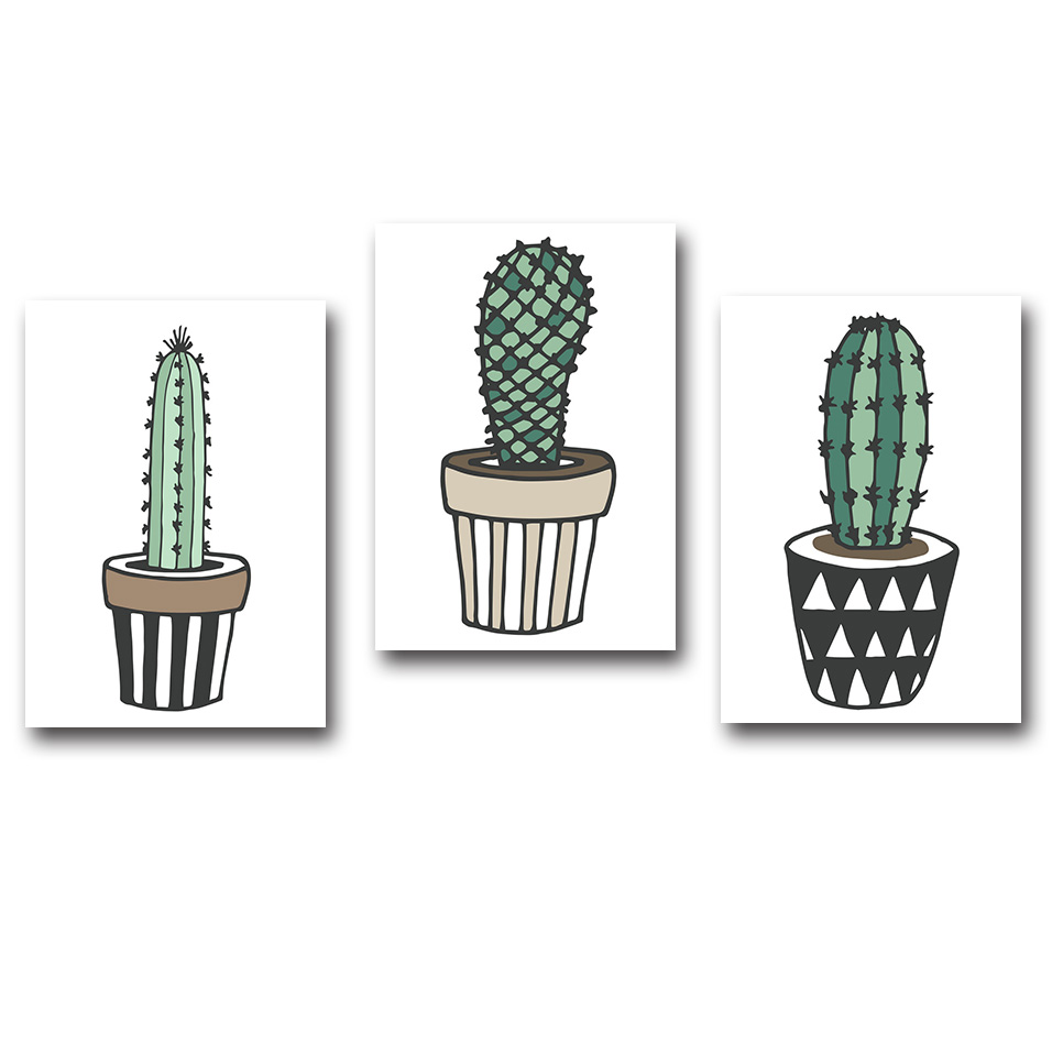 Nordic-Art-Plant-Cactus-Canvas-Poster-Painting-Modern-Nursery-A4-Wall-Picture-Children-Kids-Room-Decoration (1)