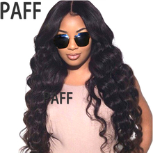 180% Density Human Hair Full Lace Wig Body Wave Brazlian Remy Hair S Part Wig With Baby Hair & Bangs for Black Women 36C(China)