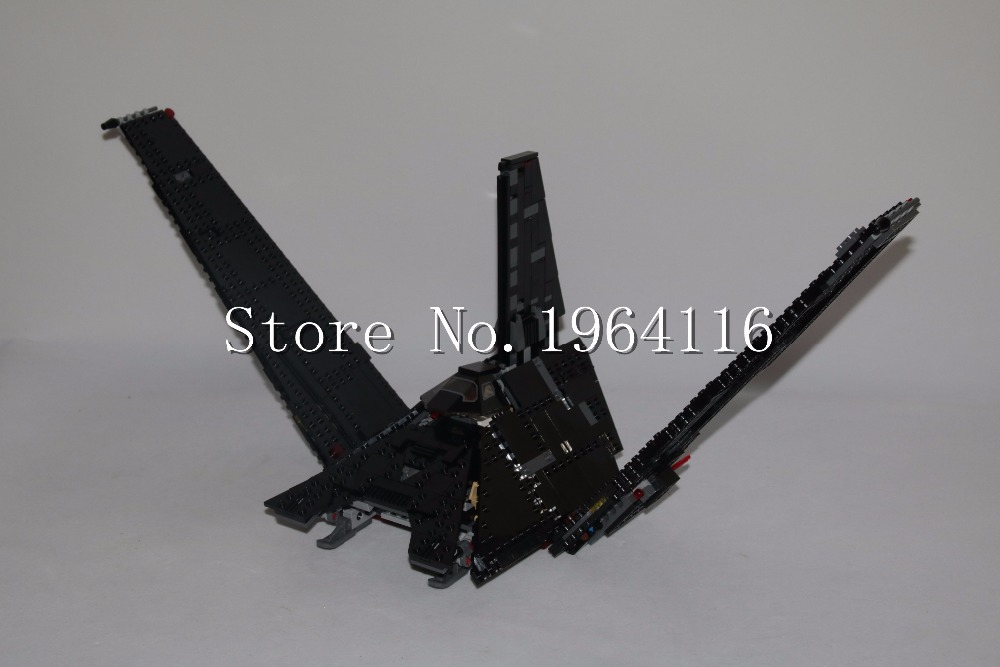 New 05049 Star series The Krennics Imperial Shuttle Model Building Blocks set Compatible 75156 classic Toys for children(China)