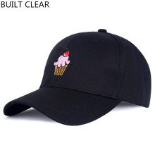 (BUILT CLEAR) cap new ice cream embroidery fashion female hat gorras adjustable black baseball cap white hat wholesale