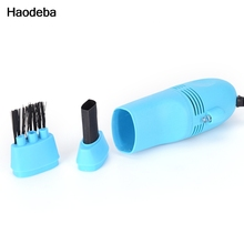 Haodeba Useful Computers Vacuum Mini USB Keyboard Cleaner Laptop Brush Dust Cleaning Kit(China)