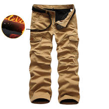 Mens Pants Work Trousers Pant Casual Military Army Cargo Camo Solid Combat Hot Winter Warm 0374