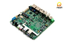 Baytrail Motherboard fanless with Lan Quad Core Mainboard J1800,J1800 nano itx motherboard OEM(China)