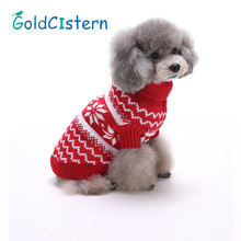 Pet Dog Cat Warm Clothes Dog Christmas Sweaters Snow Fashion Festive Apparel Coat Puppy Kitten Clothes for Dogs Cats Kitty
