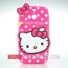 For HTC One M8 Case 3D Lovely Cute Hello Kitty Kt Cat Silicon Back Case Soft Cover Phone Case