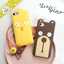 Cute Cartoon Cell Phone Cases For iphone 6 6S plus Luxury Fashion Anti-knock Cheap Soft Silicone Cover For iphone 7 7plus Coque