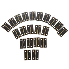 20Pcs 34*22mm Furniture Hinges Jewellery Wooden Box Hinge Door Butt Decorative Small Hinges Drawer Cabinet Furniture Fittings(China)