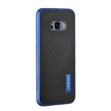 IMATCH Mobile Phone Luxury Aluminum Metal + Carbon Fiber Cross Pattern Back Phone Cases For Samsung Galaxy S8 S8 Plus JS0429(China)