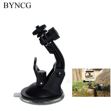 BYNCG for Gopro Hero 5 Accessories Hero4 Use Car Suction Cup Black Edition + Go Pro Screw +Gopro Adapter Sj6000 Sj 5000 4000(China)