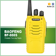 New Arrival Yellow Colour Original  Handheld Cheap UHF 400-470MHZ Walky Talky BF-888S
