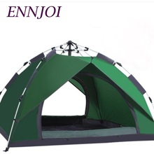 ENNJOI Tent 195*160*110CM Oxford Cloth PU Waterproof Coating 3-4 People Single Layer Camping Tent Outdoor Tent 4 Seasons
