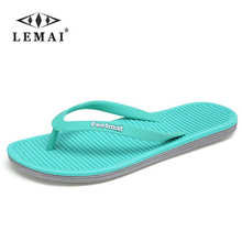 Big Size 36-45 Men Sandals New Brand Flip Flops Men Beach Slippers For Women Summer Shoes Flat Sandals Men Flip Flops 2017(China)