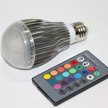 16 Colors 10W RGB Bulb LED Light E27 Lampada Led Lamp 110V 220V Bombillas For Holiday Christmas DJ Party With Remote Controller(China)