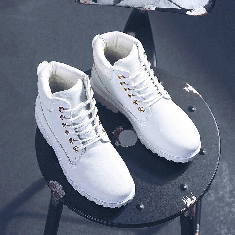 Szyadeou Women Ladies Round Toe Lace-up Faux Boots Ankle Casual Martin Shoes botas mujer invierno kozaki damskie schoenen 30 18