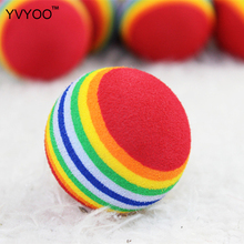 YVYOO Pet toy cat dog products Lovely jump ball color stripe Environmental health Puzzle class dog toy ball 2pcs D85(China)