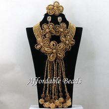 Unique African Beads Set Nigerian Nice Costume Jewelry Necklace Sets Handmade Design HEB020(China)