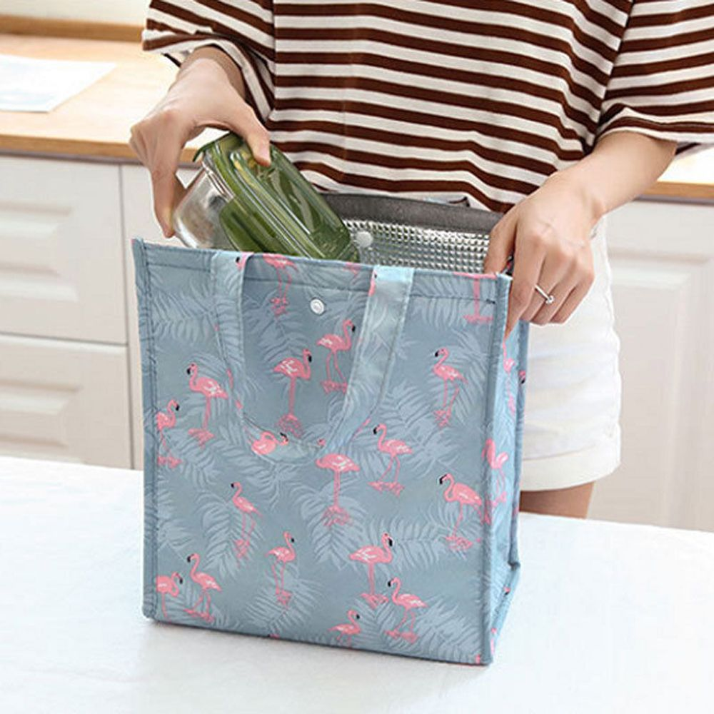 New Fresh Insulation Cold Bags Thermal Oxford Lunch Bag Waterproof Convenient Leisure Bag Cute Bird Cactus Pattern Tote