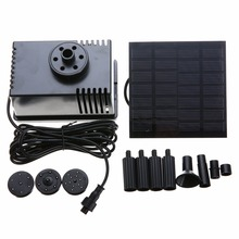Mayitr 180L/h Solar Power Fountain Water Pump With Filter Panel Kit(China)
