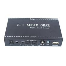 US/UK/EU Plug 5.1 Audio Devices Digital audio decoder Convert DTS/AC3 source audio to 5.1 audio or stereo audio output