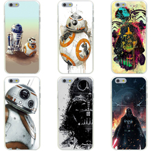 81GG Droid Robot Star War movie Hard Transparent Cover Case for iphone 4 4s 5 5s 6 6s plus 7 7 Plus