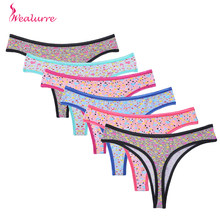 Buy Hot Cotton Thongs Women Underwear printing floral girl cute Panties Sexy Bikini Hipster Lingerie Shorts G string Female Briefs for $1.05 in AliExpress store