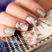 BORN PRETTY Mixed Flower Leaves Nail Art Sticker Water Decals DIY Nail Transfer Stickers Nail Art Decoration BP-W03