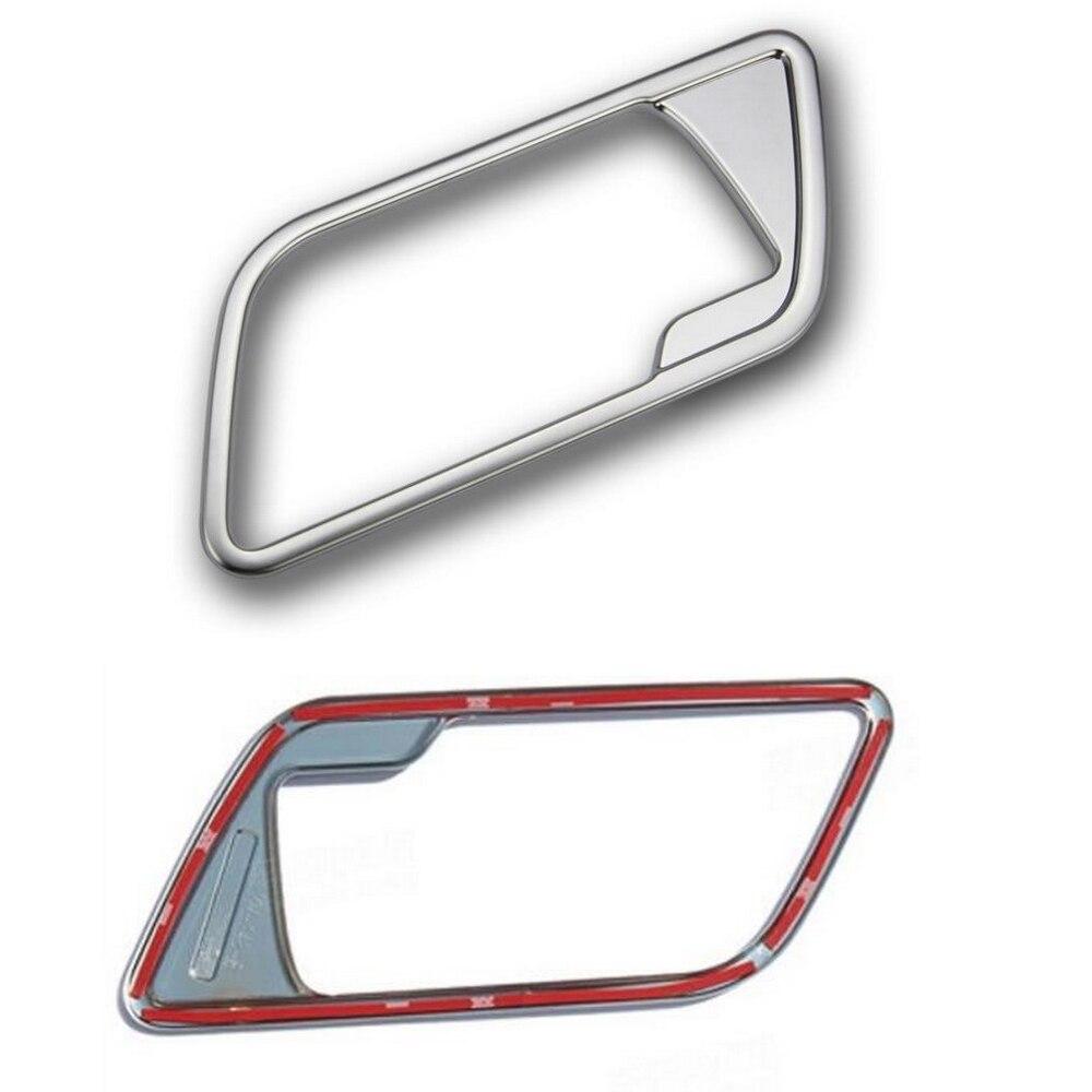 New Chrome 4pcs Interior Door Handle Cover Frame Trim Cover for L/and Rover FREELANDER 2 LR2 2008-2015 Interior Mouldings<br>
